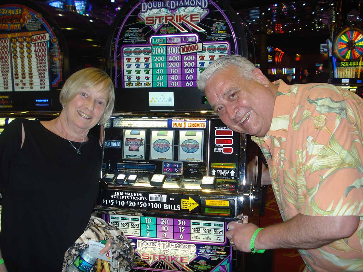 Charles from Syracuse won over $4,700 on our Double Diamond Strike slot machine