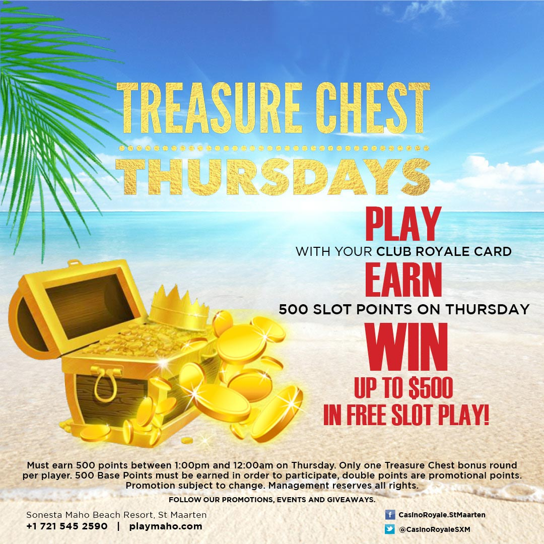 treasure chest thursdays at casino royale st maarten